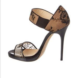 Jimmy Choo Lee paten lace sandals. NWT. Sz.39